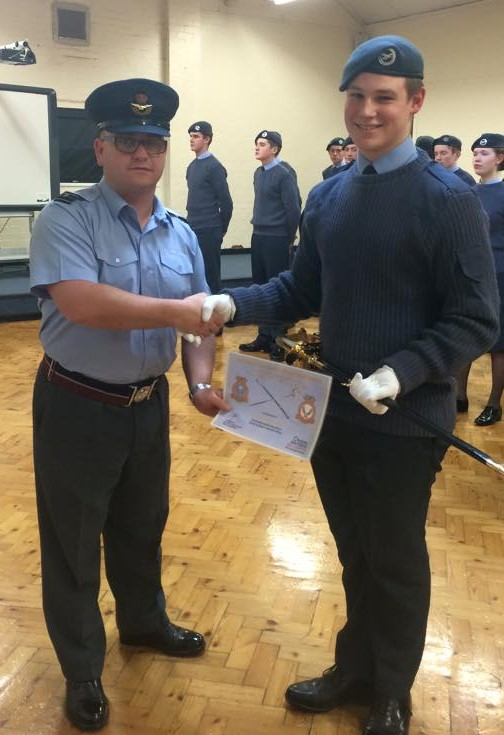 Outstanding Cadet makes point with Sword