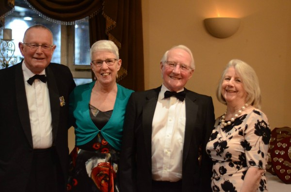 Civilian Instructors Ian Halliwell and Gerald Smith and wives